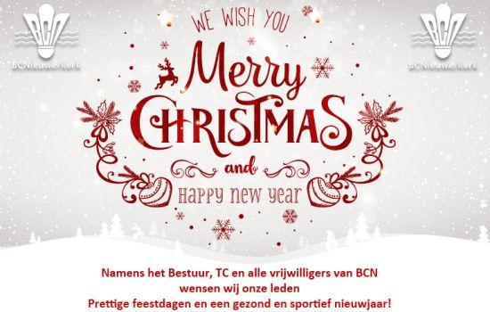 BCN wenst al haar leden prettige feestdagen!