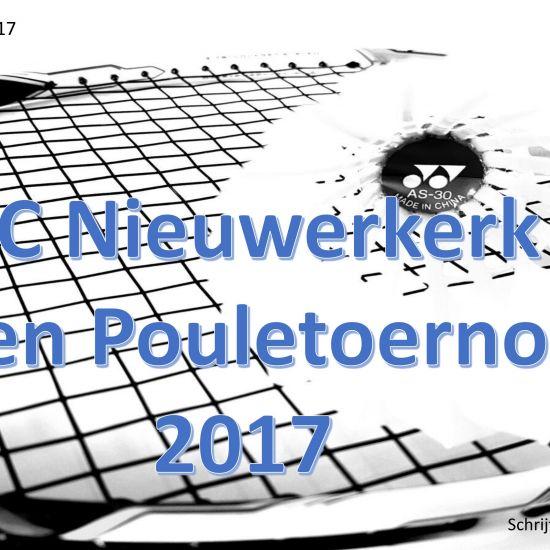 BC Nieuwerkerk Open Pouletoernooi 2017