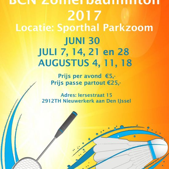 BCN Zomerbadminton 2017! 1